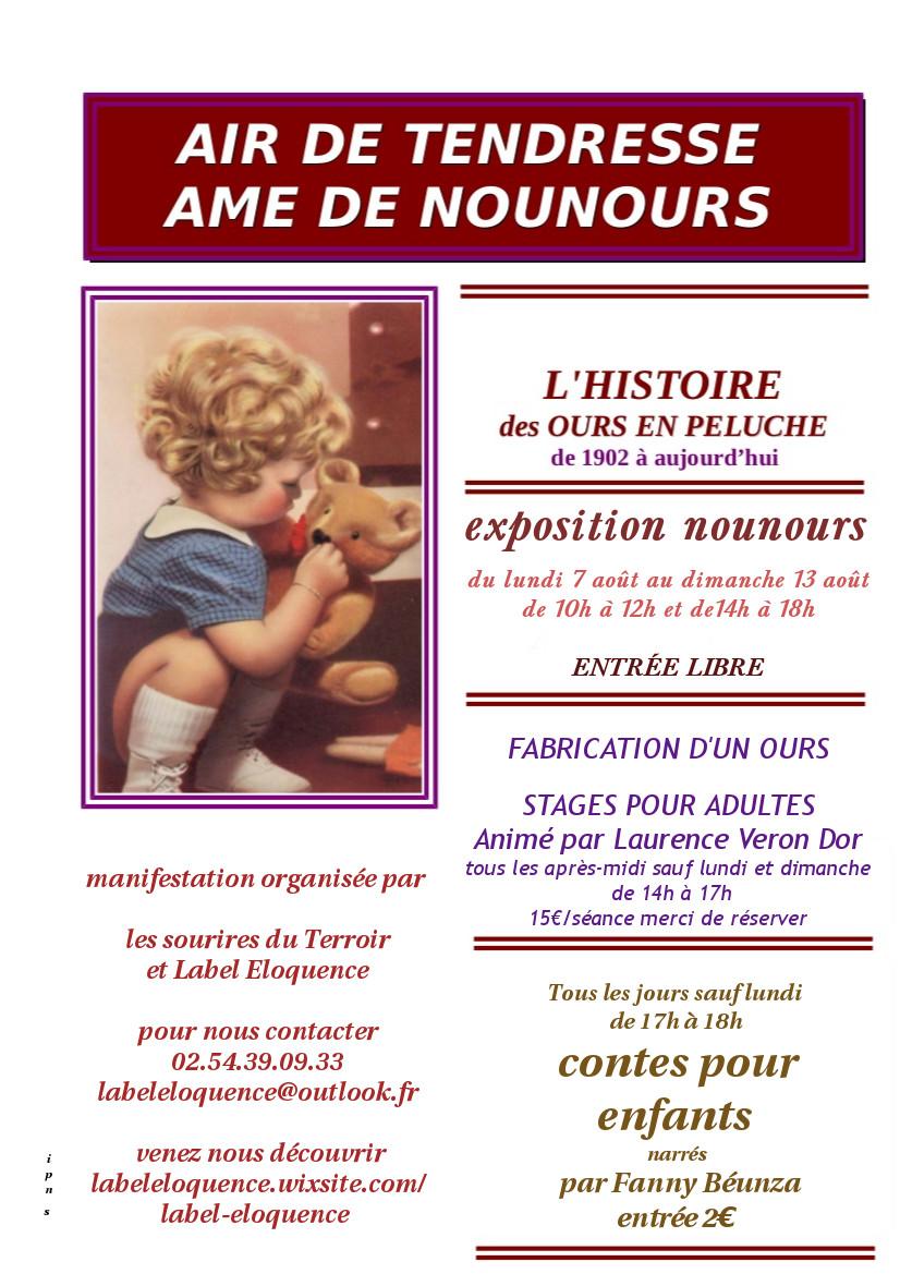 affiche expo nounours heugnes 2017