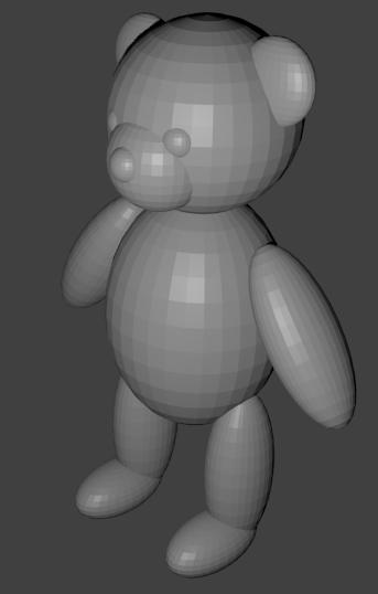 un nounours en 3D  avec Blender