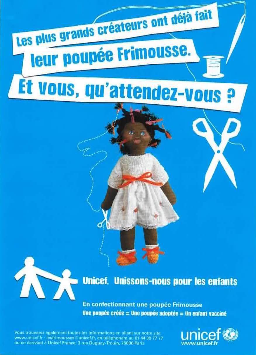 poupées Frimousses de l'Unicef